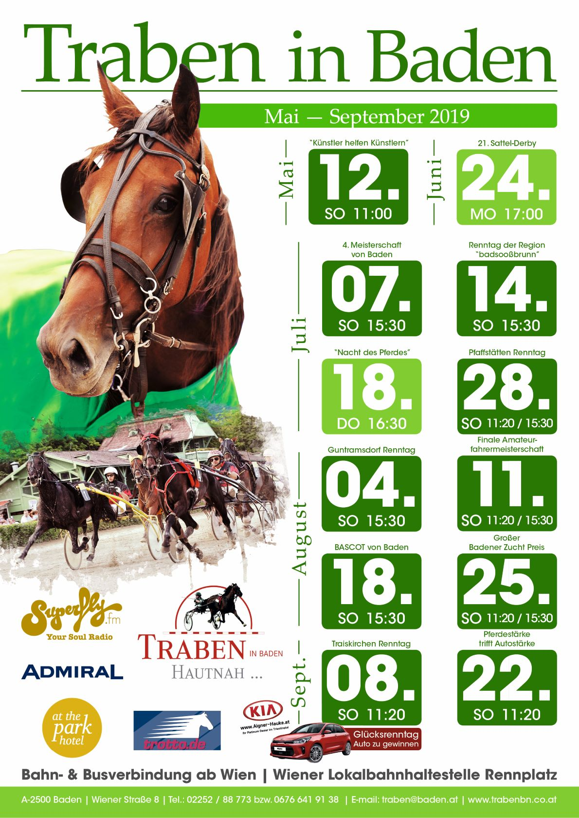 Trabrennverein Plakat Website